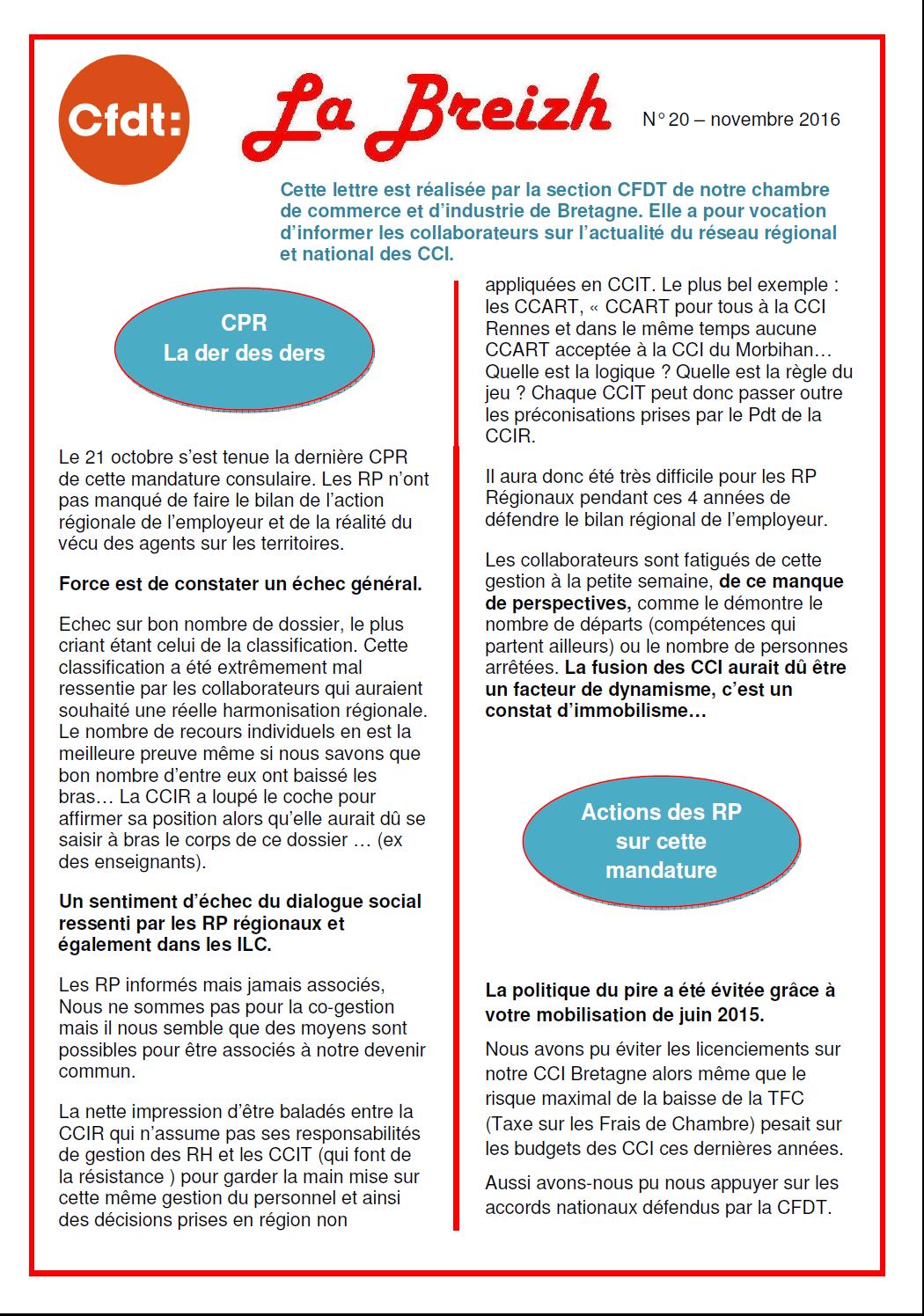 Cfdt cci le syndicat national des personnels des chambres de commerce et d 39 industrie bretagne - Chambre de commerce francaise de grande bretagne ...